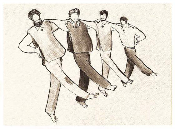 Dibujo de La Caille: danza