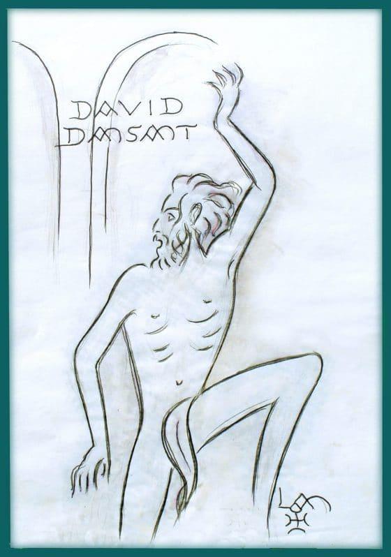 David danzando [dibujo de Lanza del Vasto]