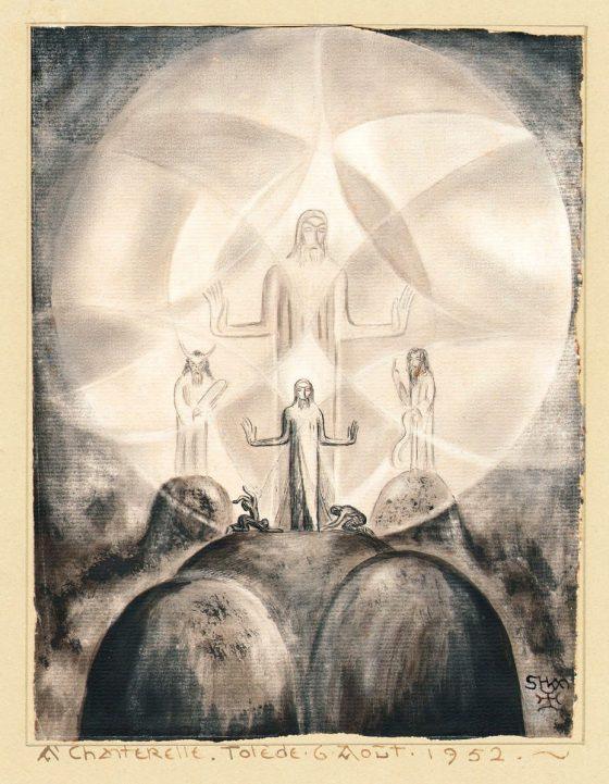 Transfiguration [Dessin de Lanza del Vasto]