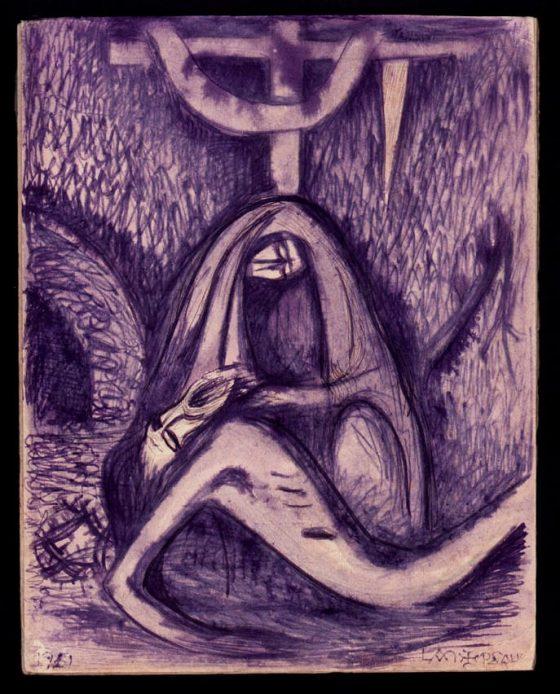 Descenso de la cruz [dibujo de Lanza del Vasto]