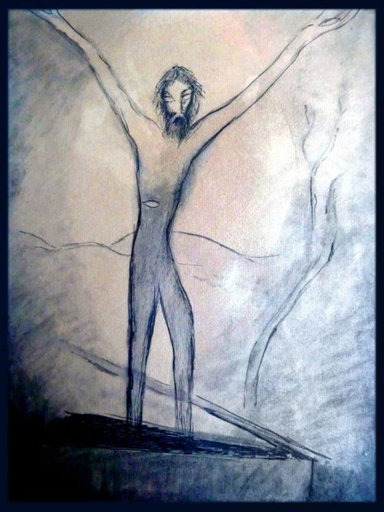Resurrección [dibujo de Lanza del Vasto]