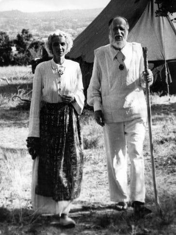 Lanza del Vasto e Chanterelle, 1958
