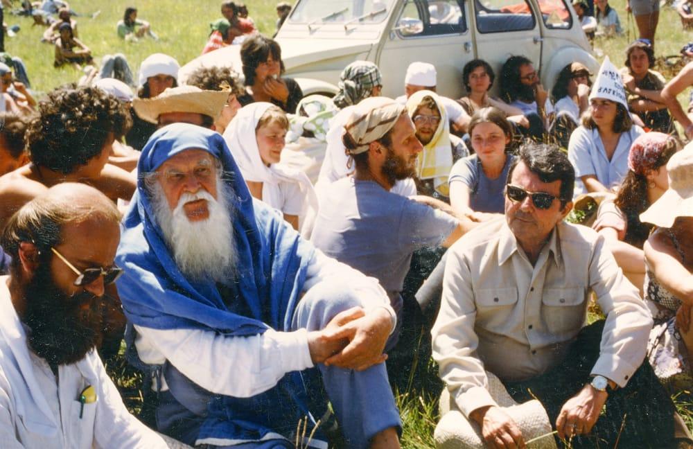 Manifestazione al Larzac - Lanza del vasto