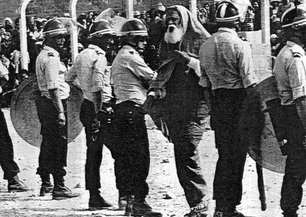 Manifestazione a Malville nel 1976 - Lanza del Vasto