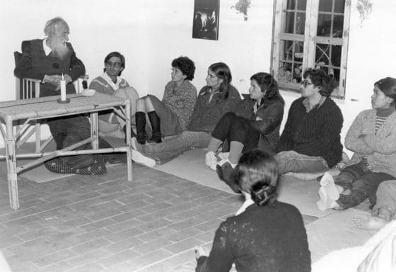 La Longuera, diciembre 1980: una de las últimas charlas de Shantidas, unos cuantos días antes de su muerte
