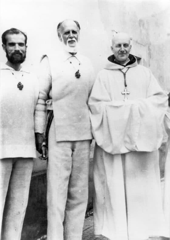 Con Pierre Parodi y un abad cisterciense en Roma 1962