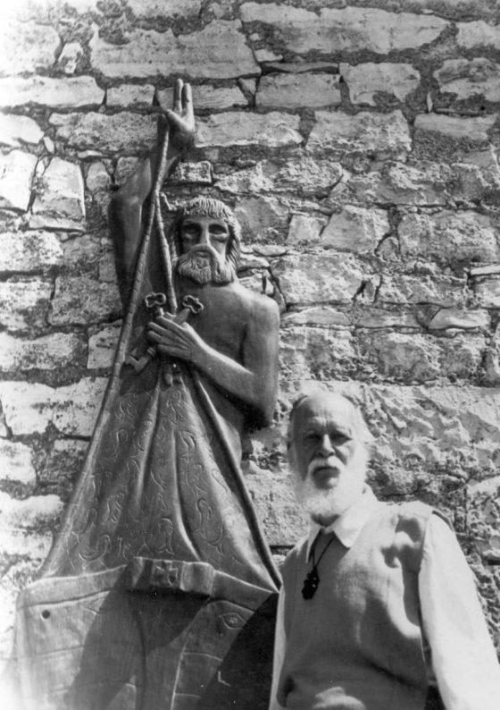 Sculpture pour une église dédiée à saint Pierre.