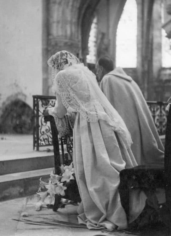 Leur mariage à Crécy-en-Brie, 24 juin 1948.