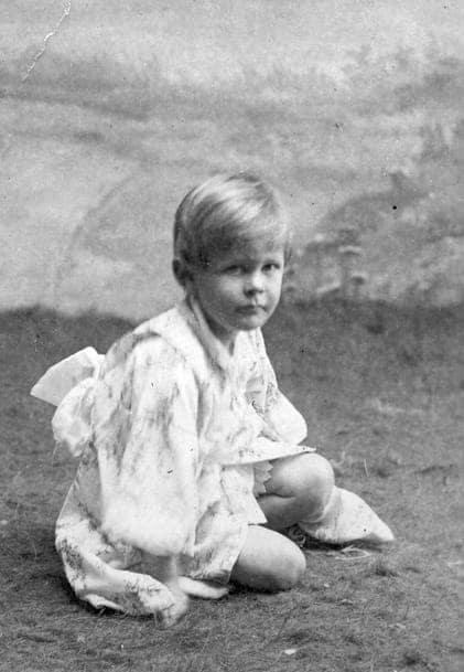Le jeune Giuseppe, alors surnommé « Peppino ».