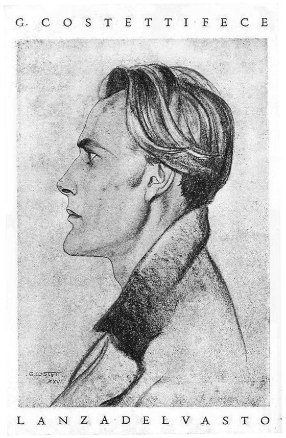 Dessin de Giovanni Costetti (Florence, 1926).