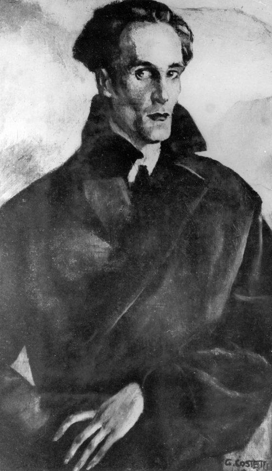 Portait à l'huile par Giovanni Costetti (Florence, 1926).