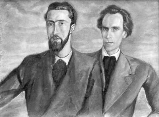Portraits de Lanza et Luc Dietrich (Florence, 1934).