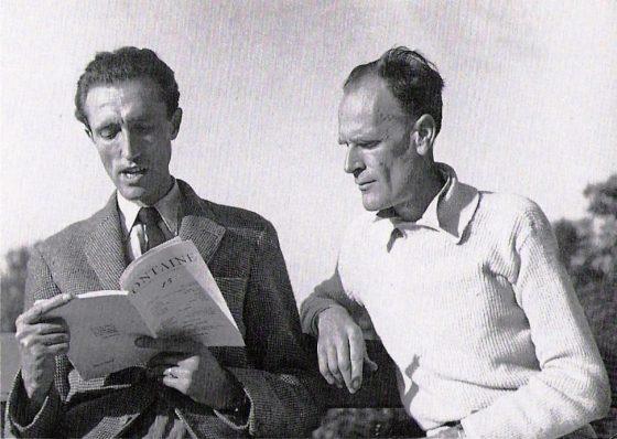 Avec Luc Dietrich, auteur d'un article sur Lanza dans Fontaine (1942)