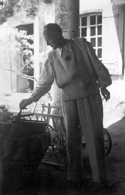 Lanza del Vasto - Tournier en Charente, première communauté rurale, 1948.