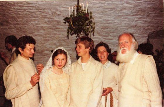 Lanza del Vasto - Avec René, Monique, Daniel et Luce.