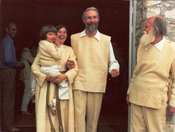 Lanza del Vasto - Avec Michèle et Jean et leur fils David.