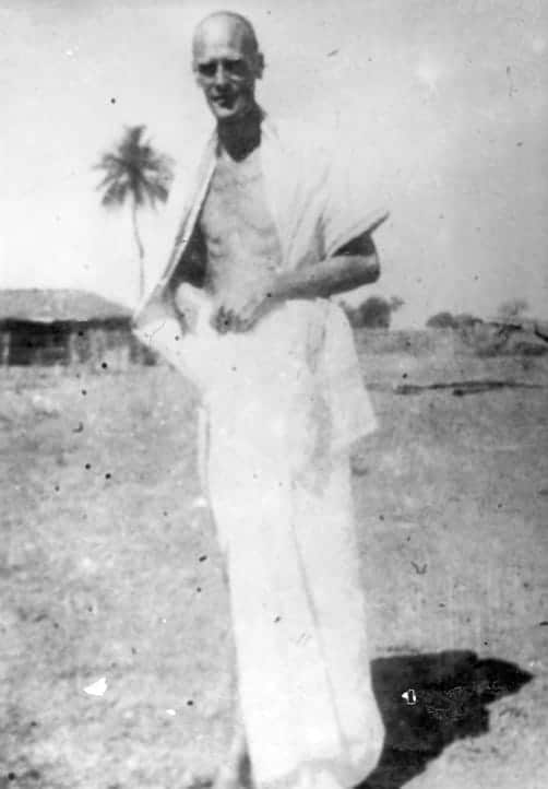 During the pilgrimage to the sources, at Gandhi's in February 1937.