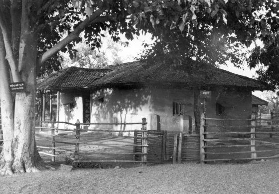 La hutte de Gandhi à Wardha.