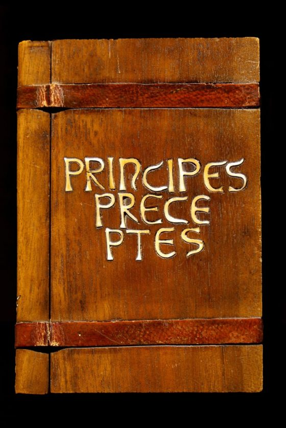 Encuadernación de Principios y Preceptos del retorno a la evidencia - Lanza del Vasto
