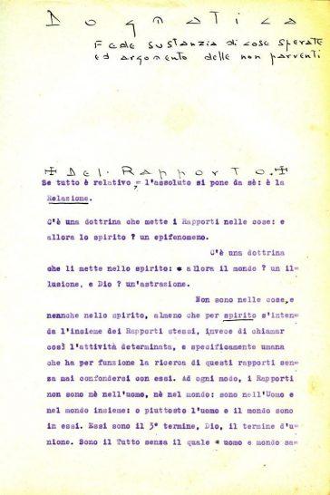 Lanza del Vasto - Principio de la tesis de 1928