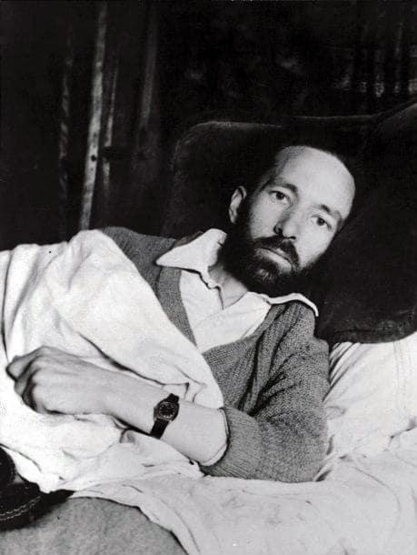 Foto tomada por Luc Dietrich poco antes de la muerte de René Daumal