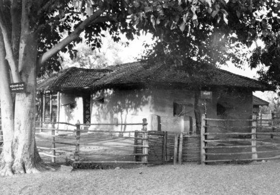 La choza de Gandhi en Wardha (1937)