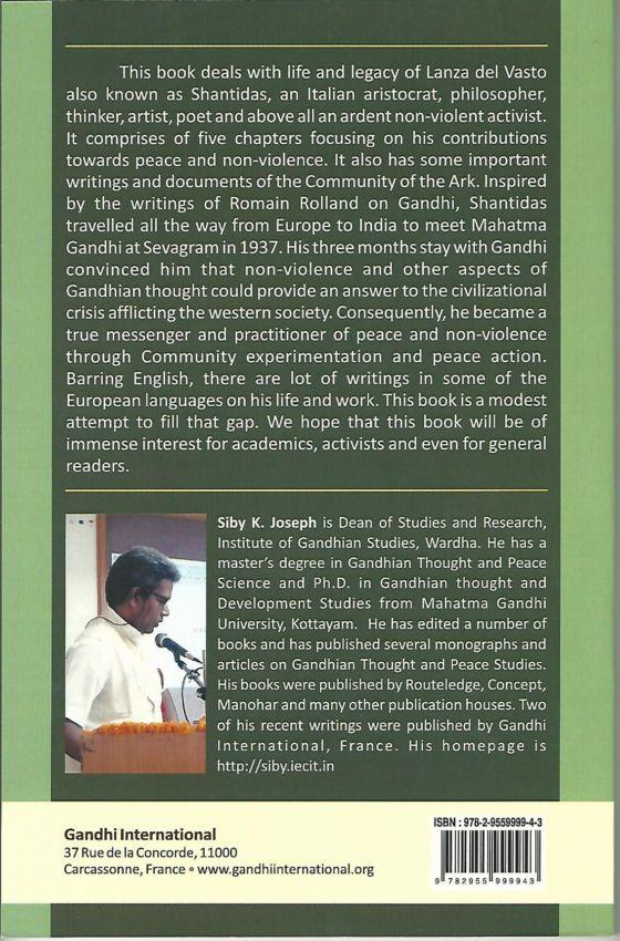 """""""Lanza del Vasto: Messenger of Peace"""", écrit par Joseph K. Siby"""