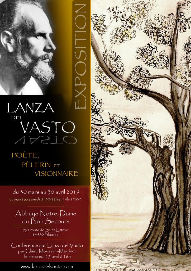 Exposition Lanza del Vasto à Blauvac Abbaye