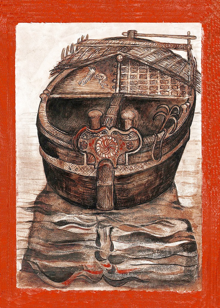 Lanza del Vasto - Barque de pêche - Inde, 1954