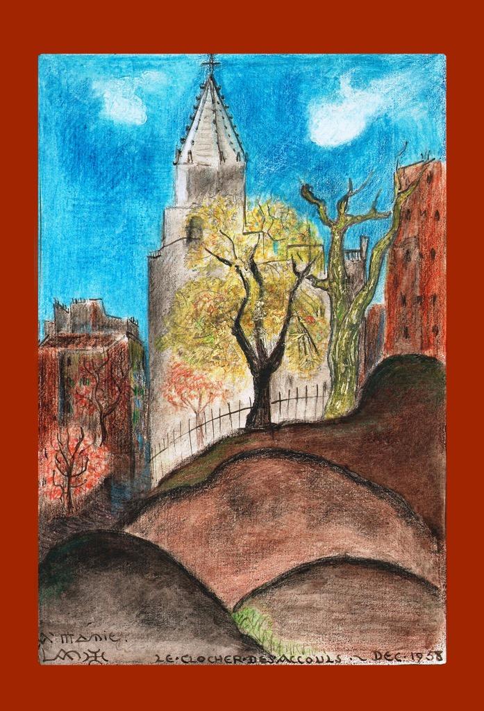 Lanza del Vasto - Le clocher d'Accouls - 1958