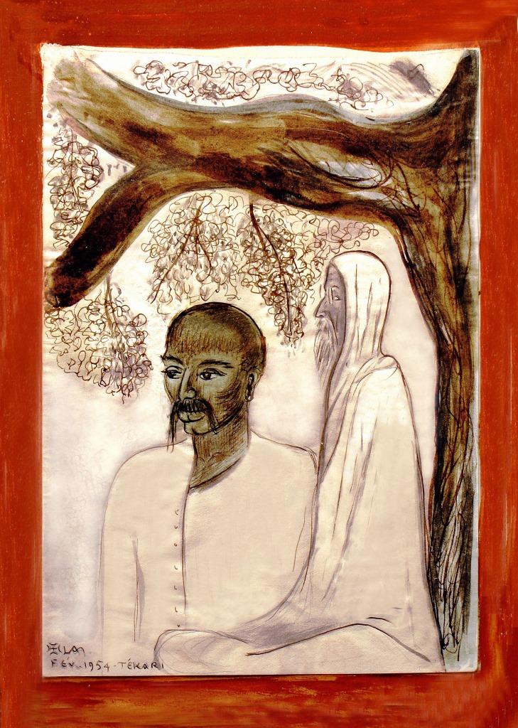 Lanza del Vasto - Vinôba et un disciple - Inde - 1954
