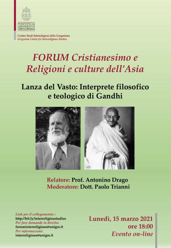 """Rencontre universitaire à Rome: """"Lanza del Vasto, interprète de Gandhi"""""""