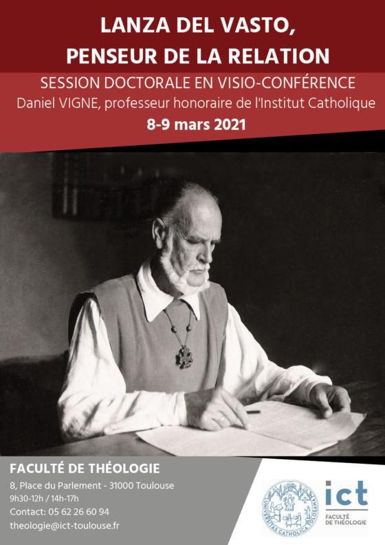 """Session doctorale à Toulouse: """"Lanza del Vasto, penseur de la Relation"""""""